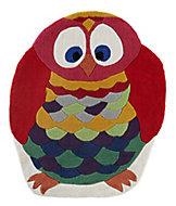 Colours Kori Owl Blue & red Rug (L)1m (W)0.8m