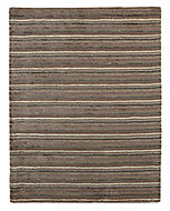 Colours Jasola Striped Grey & taupe Rug (L)1.5m (W)0.8m