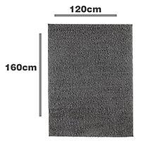 Colours Kala Grey Rug (L)1.6m (W)1.2m