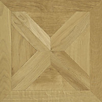 Colours Staccato Natural Oak parquet effect Laminate flooring, Sample