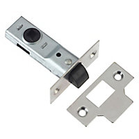 Diall Polished Chrome effect Tubular Mortice latch (L)170mm