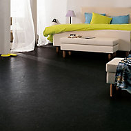 Colours Dizi Black Marble effect Vinyl flooring, 6m²