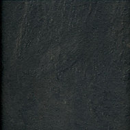 Colours Harmonia Black Slate effect Laminate flooring, Sample