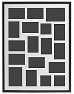 Black Wood 18 aperture picture frame (H)827mm x (W)627mm