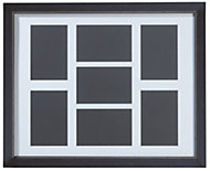 Black Wood 7 aperture picture frame (H)527mm x (W)427mm