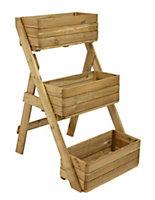 Wooden Natural timber Cascade Planter (H)1210mm