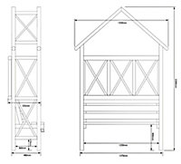 Blooma Cottage Apex Softwood Arbour