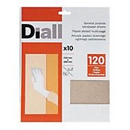 Diall Aluminium oxide Hand sanding sheets, Pack of