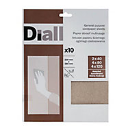 Diall Aluminium oxide Hand sanding sheets, Pack of