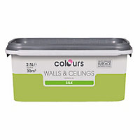 Colours Standard Green apple Silk Emulsion paint 2.5L