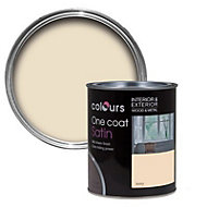 Colours One coat Ivory Satin Metal & wood paint, 0.75L