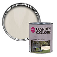 Colours Garden Ivory Matt Wood stain, 0.75L