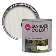 Colours Garden Ivory Matt Wood paint, 2.5L