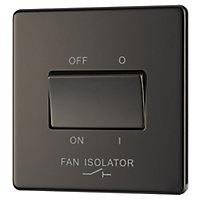Colours 10A Black Nickel effect Single Fan isolator Switch