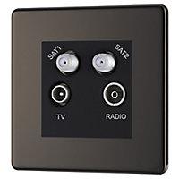 Colours Black Nickel effect Coaxial & satellite socket