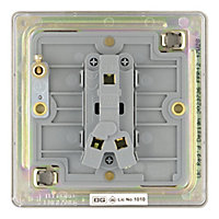 Colours 10A 2 way Polished nickel effect Single Light Switch