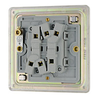 Colours 10A 2 way Polished nickel effect Double Light Switch