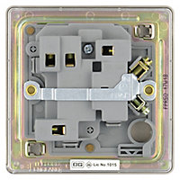 Colours 13A Pearl nickel effect Switched Fused connection unit