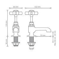 Cooke & Lewis Classic Hot & cold basin pillar tap