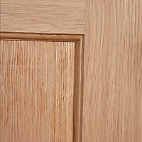 4 panel Oak veneer LH & RH Internal Fire Door, (H)1981mm (W)762mm