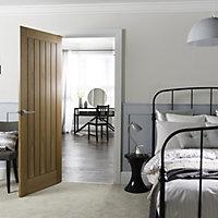 Cottage Oak veneer LH & RH Internal Fire Door, (H)1981mm (W)762mm
