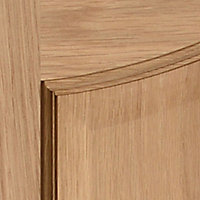 2 panel Arched Oak veneer LH & RH Internal Door, (H)1981mm (W)686mm
