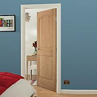 2 panel Arched Oak veneer LH & RH Internal Door, (H)1981mm (W)762mm
