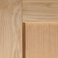 1 panel Shaker Oak veneer LH & RH Internal Door, (H)1981mm (W)762mm