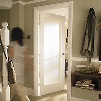 1 Panel Shaker Primed White Smooth Internal Door, (H)1981mm (W)610mm