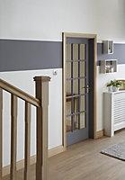 10 Lite Glazed Oak veneer LH & RH Internal Door, (H)1981mm (W)762mm