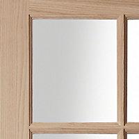Fully glazed 10 Lite Oak veneer Internal Door, (H)1981mm (W)686mm