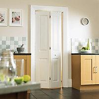 4 panel Primed White Internal Bi-fold Door set, (H)1950mm (W)750mm