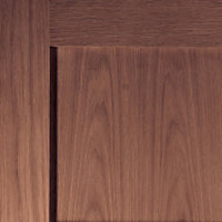 4 panel Shaker Walnut veneer LH & RH Internal Door, (H)1981mm (W)686mm