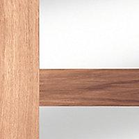 4 panel Glazed Shaker Walnut veneer LH & RH Internal Door, (H)1981mm (W)762mm