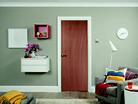 Flush Ply veneer LH & RH Internal Door, (H)2040mm (W)626mm
