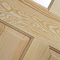 4 panel Glazed Clear pine LH & RH Internal Door, (H)1981mm (W)762mm