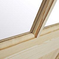 6 panel Glazed Clear pine LH & RH Internal Door, (H)1981mm (W)762mm