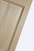 4 panel Clear pine Internal Bi-fold Door set, (H)1945mm (W)675mm