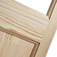 4 panel 2 Lite Glazed Clear pine Internal Bi-fold Door set, (H)1946mm (W)750mm