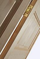 6 panel Clear pine Internal Bi-fold Door set, (H)1946mm (W)675mm