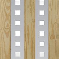Vertical 2 panel Clear pine Internal Door, (H)2040mm (W)726mm