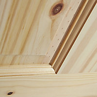4 panel Knotty pine LH & RH Internal Fire Door, (H)1981mm (W)762mm