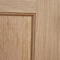 4 panel Oak veneer LH & RH Internal Door, (H)2040mm (W)726mm