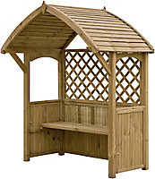 Blooma Barmouth Softwood Arbour - Assembly service included