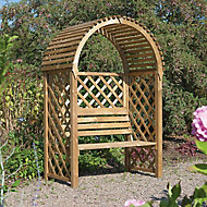 Blooma Chiltern Softwood Arbour - Assembly service included