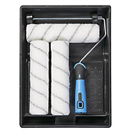 """Diall 9"""" Plastic tray Roller set with 3 sleeves Set of 5"""