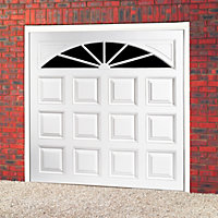 Washington Retractable Glazed Garage door, (H)2134mm (W)2286mm