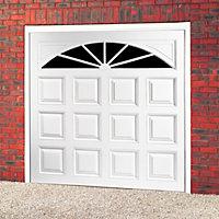 Washington Retractable Glazed Garage door, (H)1981mm (W)2438mm