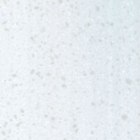 Colours Earthstone Matt Stone effect White Worktop edging strip, (L)0.98m