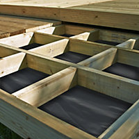 Metsä Wood Deck² Easy build Spruce Modular deck system, 5.76m²